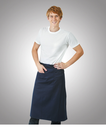A02 Poly Cotton Aprons Long Waist; W86xL76 (below the knees with pocket)