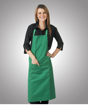 A03 Poly Cotton Aprons Bib Style W86xL94cm (With adjustable neck strap and pocket)