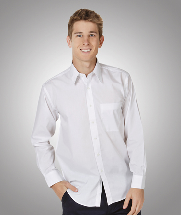 B01 Men's Poly Cotton Business Shirt Long Sleeve