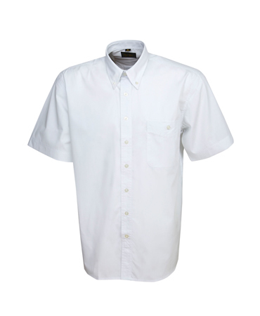 B02 Men's Poly Cotton Business Shirt Short Sleeves