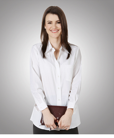 B11 Ladies Poly Cotton Business Shirt Long Sleeves