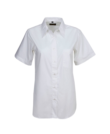 B12 Ladies Poly Cotton Business Shirt Short Sleeves