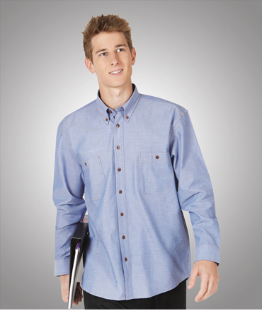 C01 Traditional Chambray Shirt Long Sleeves