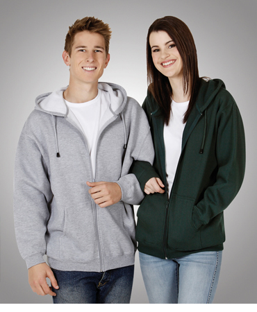 F04 Full Zip Fleecy Hoodie Adults