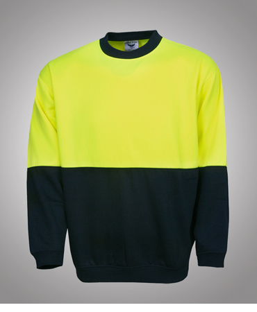 F81 Hi Vis Fleecy Sweat Crew Neck