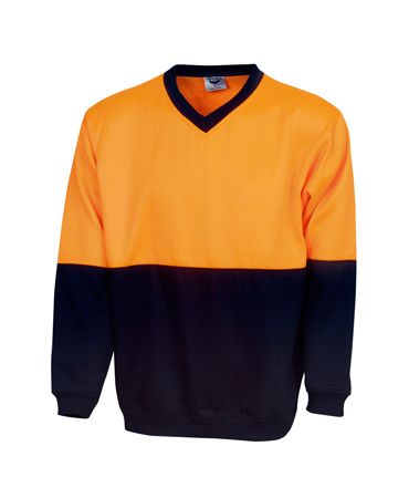 F82 Hi Vis Fleecy Sweat V-neck