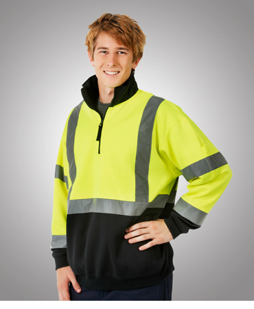 F95 Hi Vis D/N Fleecy Jumper Parallel Back Tape