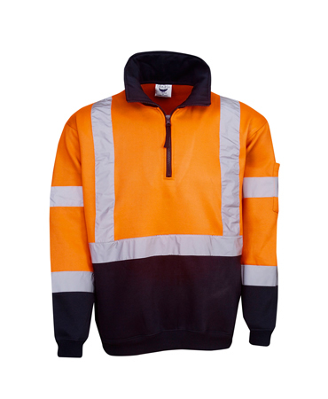 F96 Hi Vis D/N Fleecy Jumper Cross Back Tape