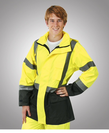 J84 Hi Vis Day/ Night Rain Jacket