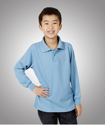P11K Long Sleeve Pique Polo Children