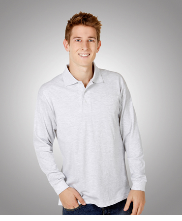 P12 Long Sleeve Pre-shrunk Cotton Polo