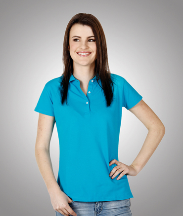P23 Ladies Cotton Lycra Pique Polo