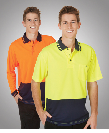 P61 Hi Vis Light Weight Cool Dry Polo L/S