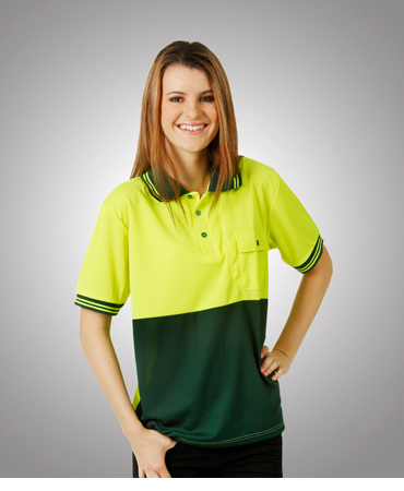 P82 Hi Vis Cooldry Polo Short Sleeves