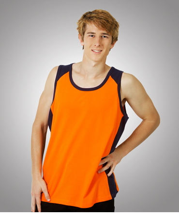 S84 100% Cotton Hi Vis Singlet
