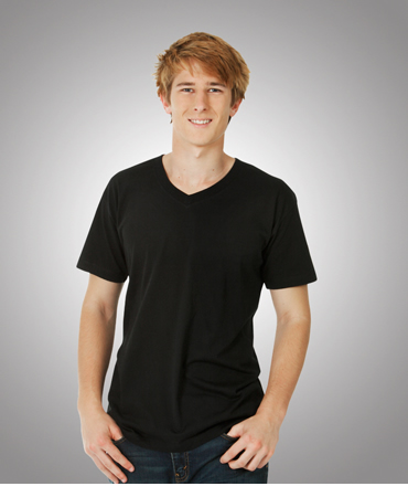 T08 V-Neck Soft-Feel Slim Fit T-shirt